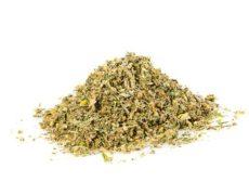 sieved of orange bud cannabis cbd canamo