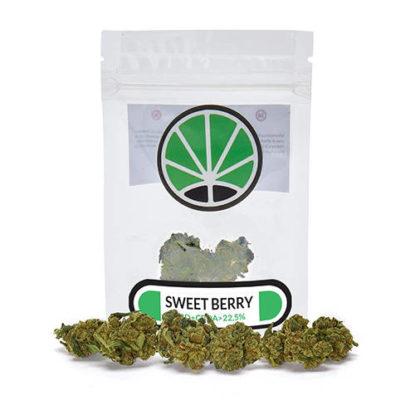 Paquete de cogollos Sweet Berry cannabis legal Cbd Espana