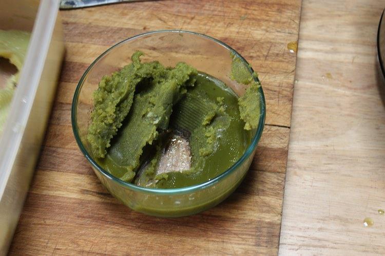 mantequilla de cannabis para la tarta