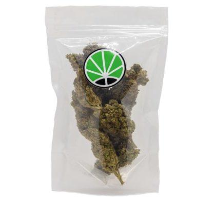 paquete de cogollos Bubblegum variedad de Cannabis CBD