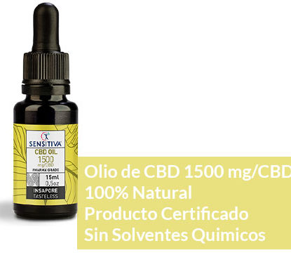 Descripción de aceite de CBD de 15 ml a 10% - Sensitiva