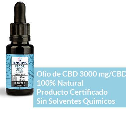 Descripción de aceite de CBD de 15 ml a 20% - Sensitiva
