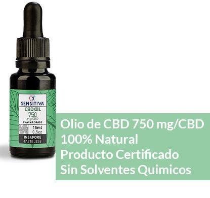 Descripción de aceite de CBD de 15 ml a 5% - Sensitiva