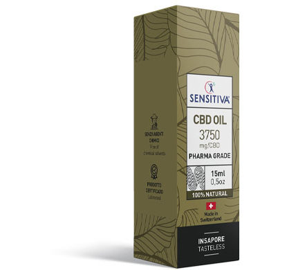 Paquete de aceite de CBD de 15 ml a 25% - Sensitiva