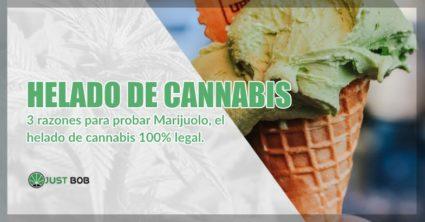 Helado italiano de cannabis cbd