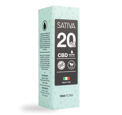 Paquete de Aceite CBD de 10 ml al 20% - Sativa