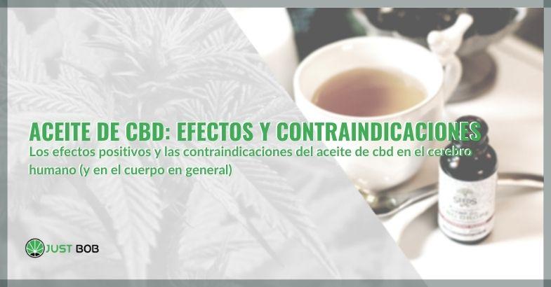 Aceite de CBD: efectos y contraindicaciones