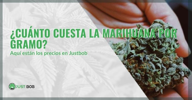 Los precios de Justbob por un gramo de marihuana