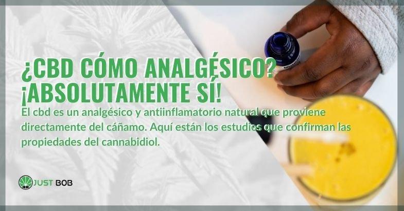 El CBD de cáñamo es un antiinflamatorio y analgésico natural.