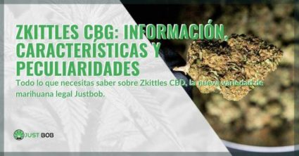 Características e información de la nueva marihuana Zkittles CBG
