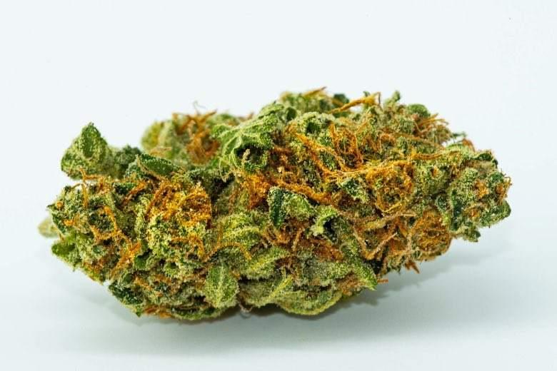 Un cogollo ligero de cannabis de alta calidad
