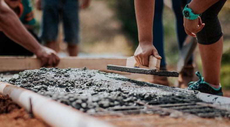 Cáñamo en la construcción: uso de hormigón.